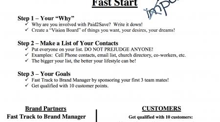 Fast Start Document