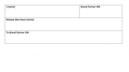 Merchant Release Form
