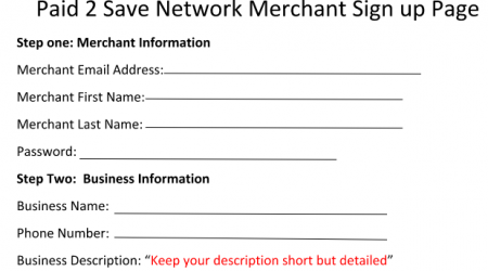 Merchant Sign Up Form