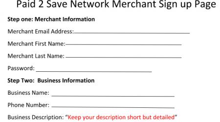 Merchant Sign Up Form